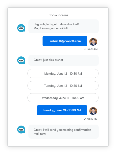 Allow buyers to talk to  sales reps soon