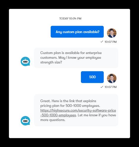 Self-serve common customer questions